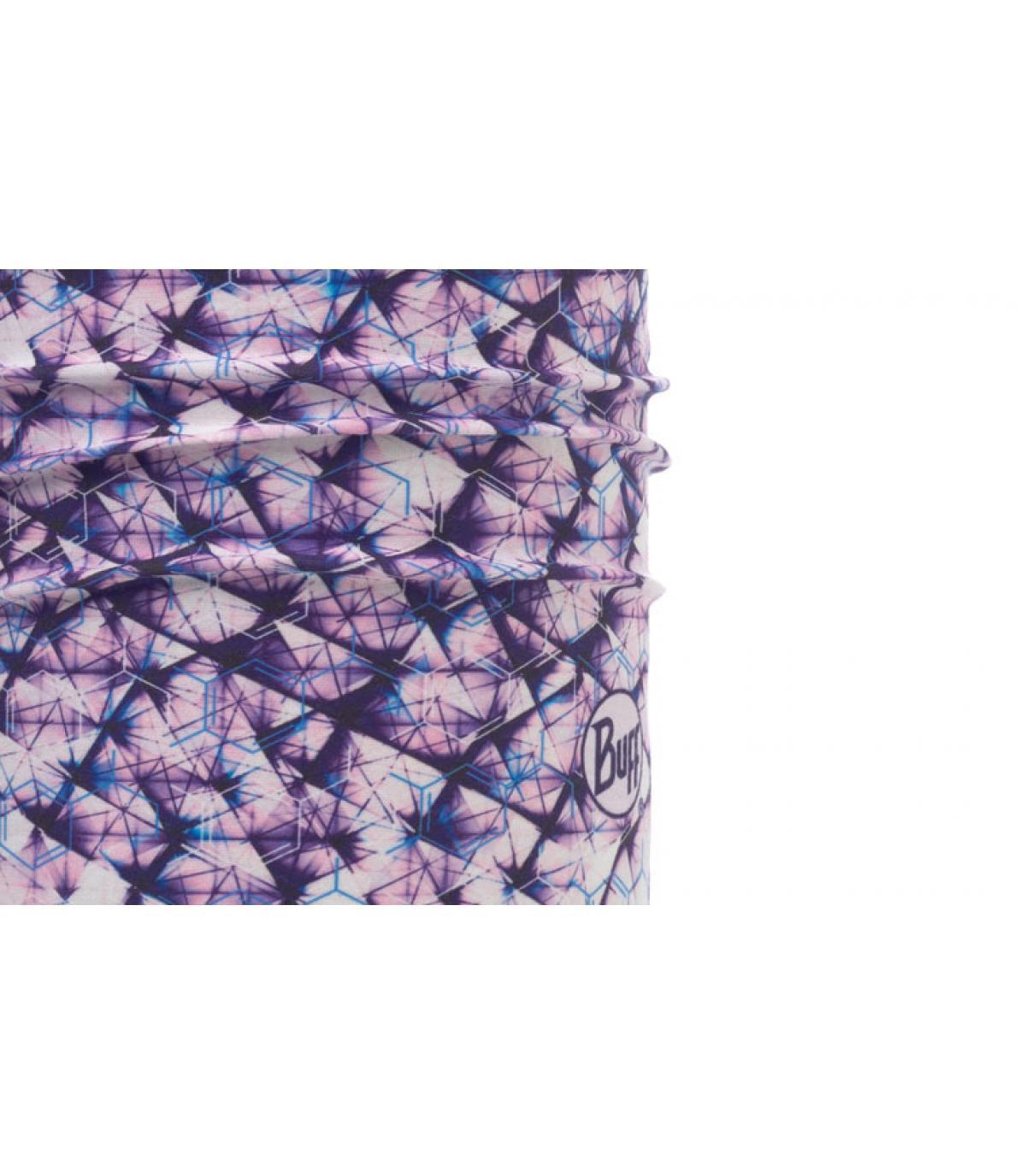 purple white print Buff