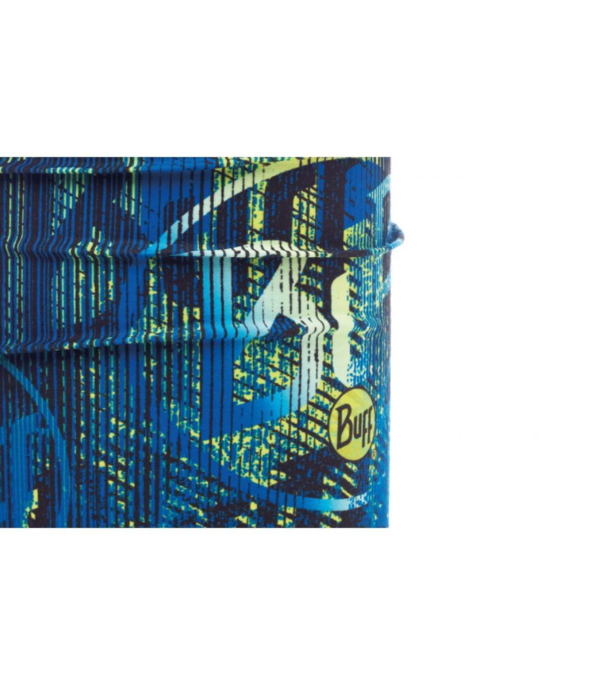 blue logo print Buff