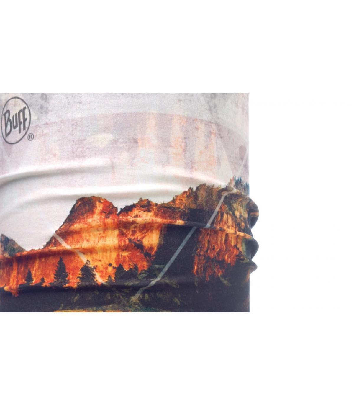 Buff mountain print.