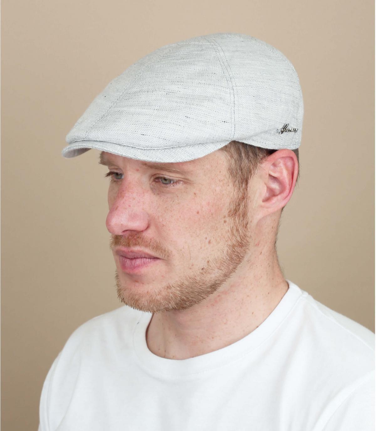 grey cap linen