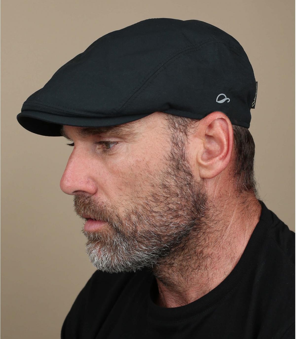black Gore Tex flat cap