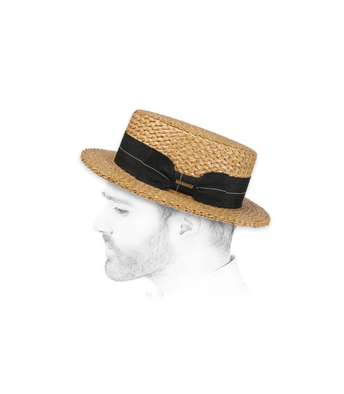 Stetson straw boater hat