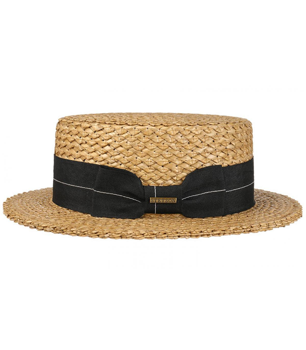 3e7d58a06d617 Stetson straw boater hat - Boater vintage wheat by Stetson. Headict