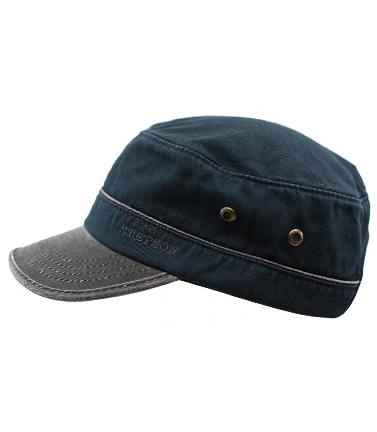 navy blue army cap