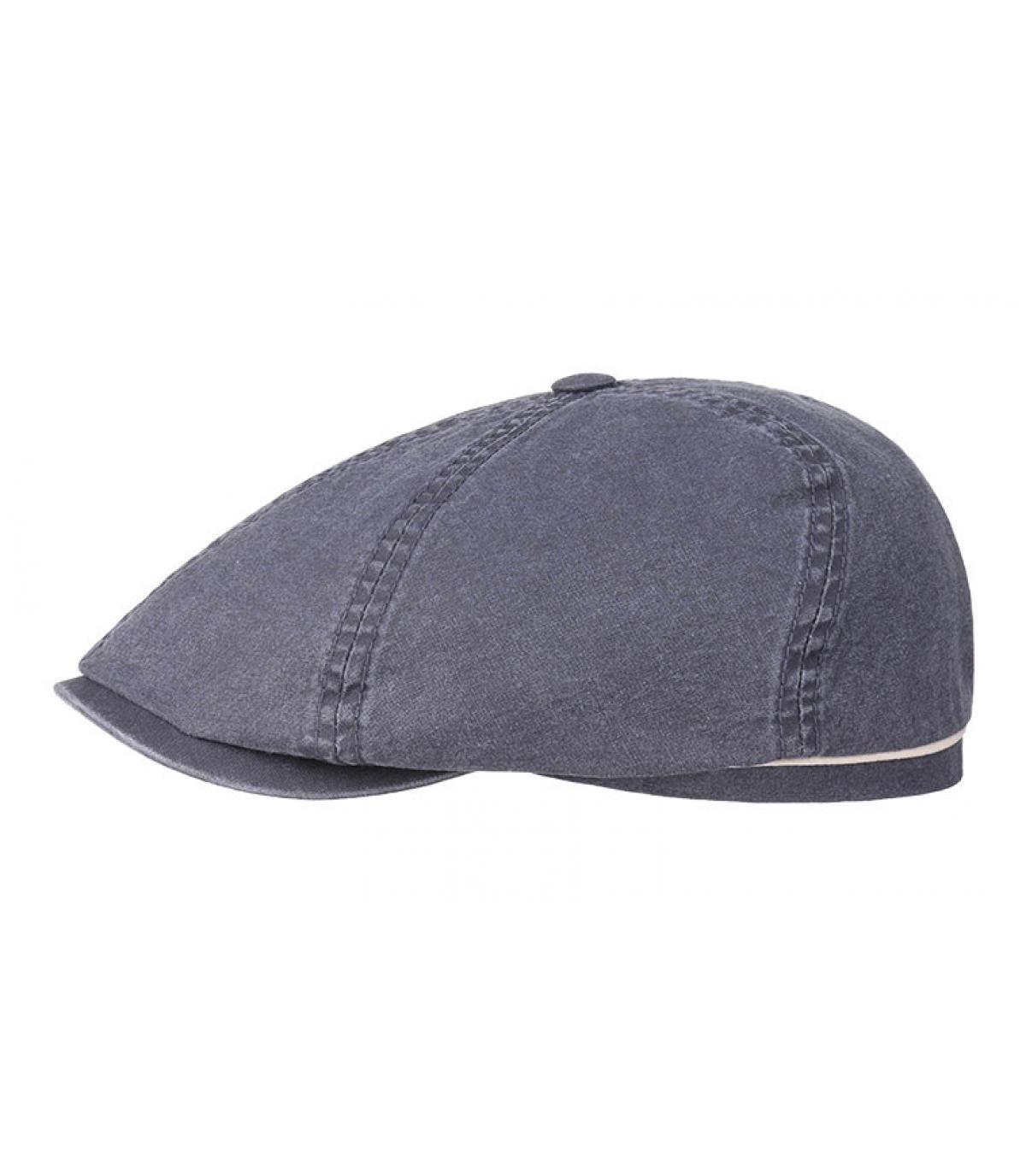 Détails Brooklyn cap waxed cotton organic blue - image 2