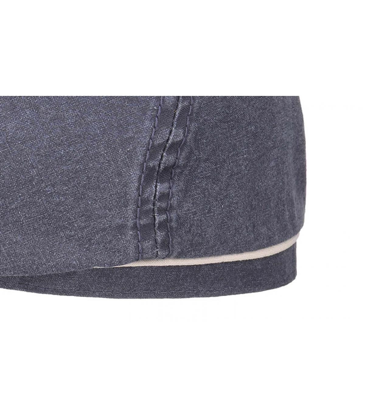 Détails Brooklyn cap waxed cotton organic blue - image 3