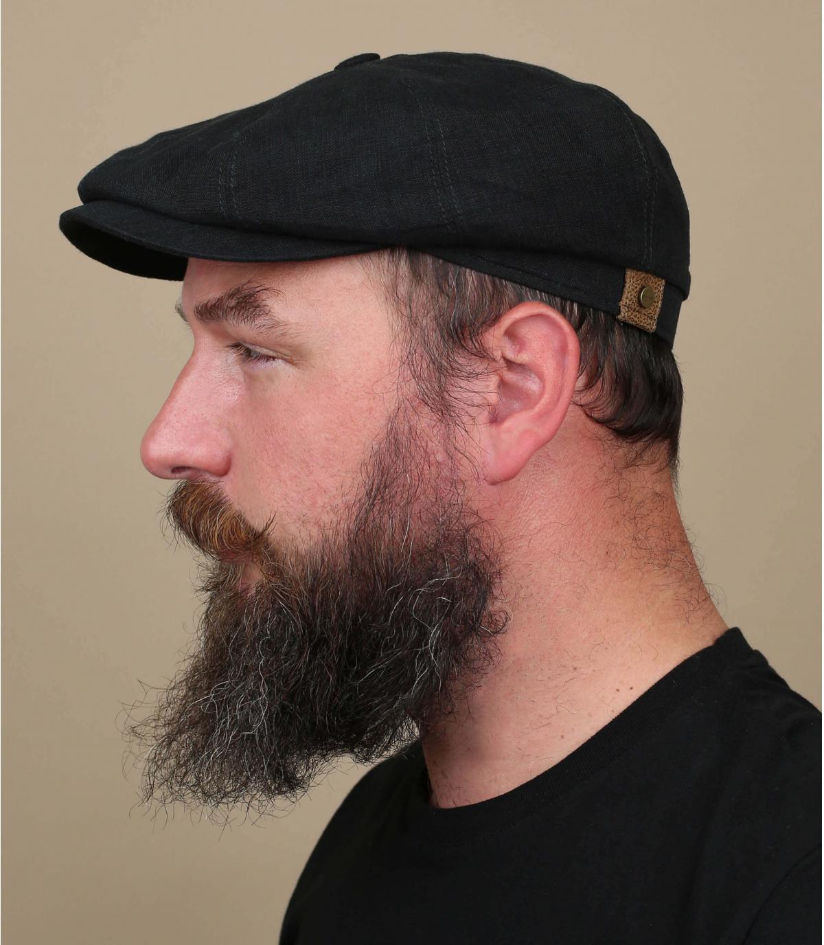 Black linen hatteras
