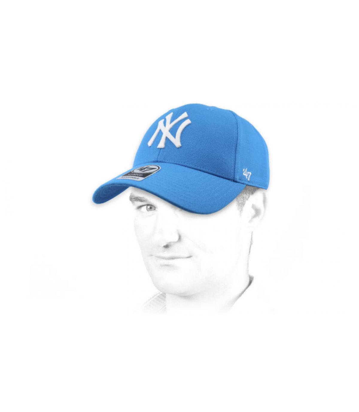 light blue NY cap47