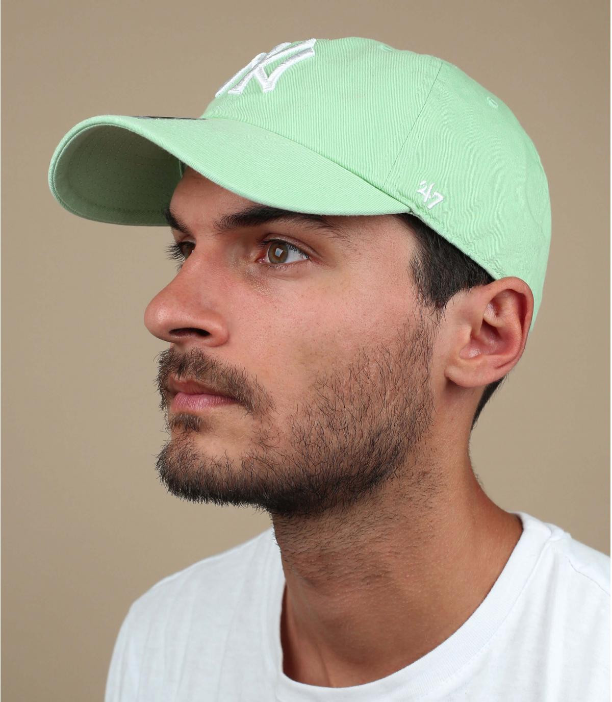 pale green NY cap