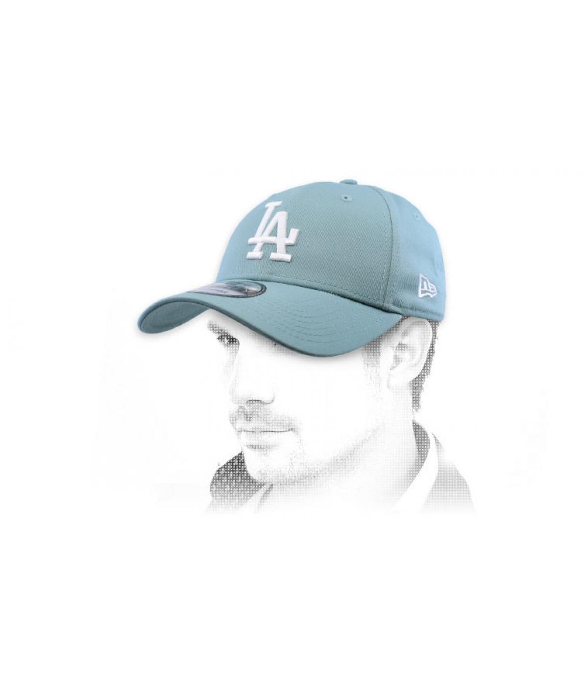 blue LA cap