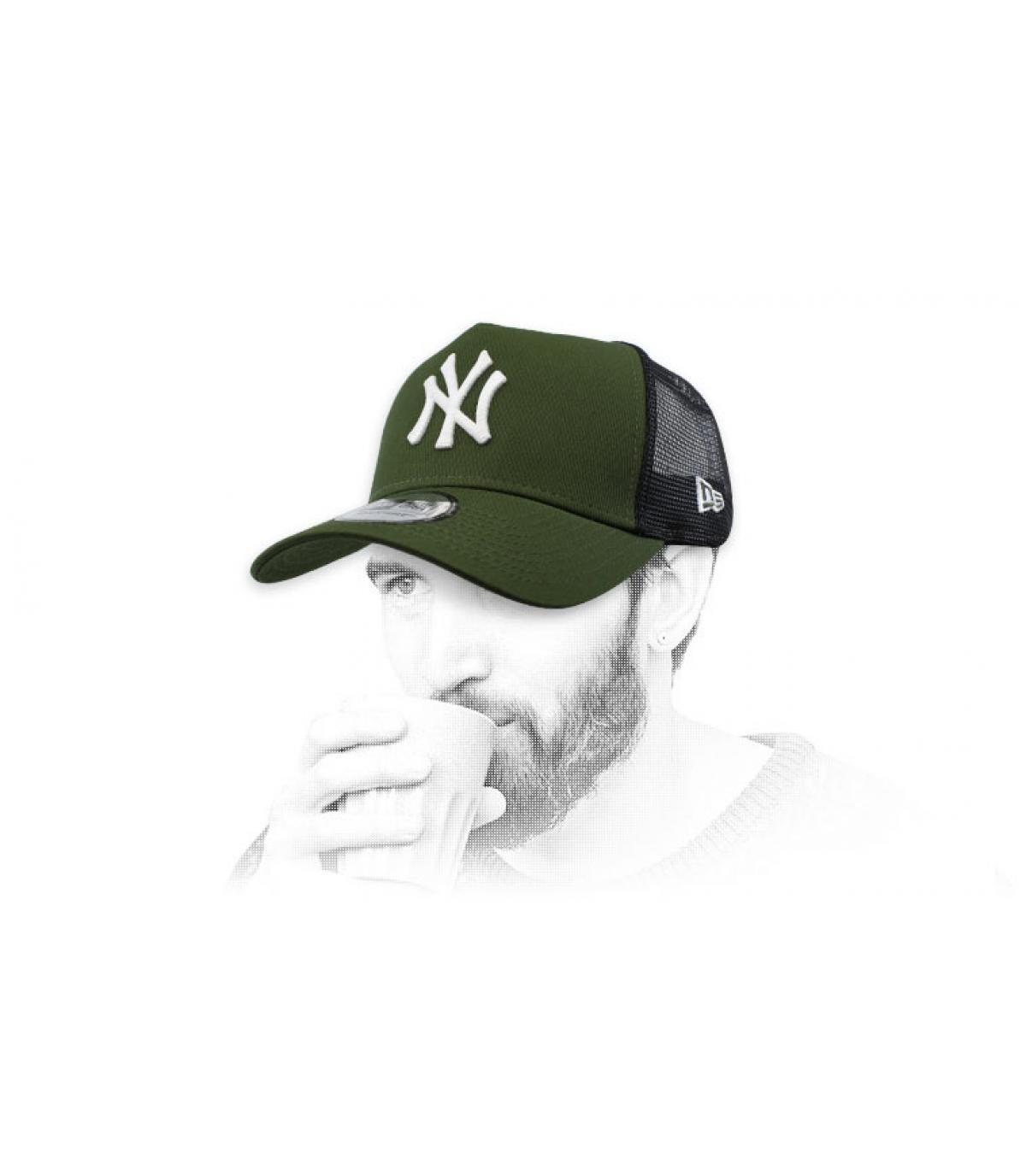 green NY trucker