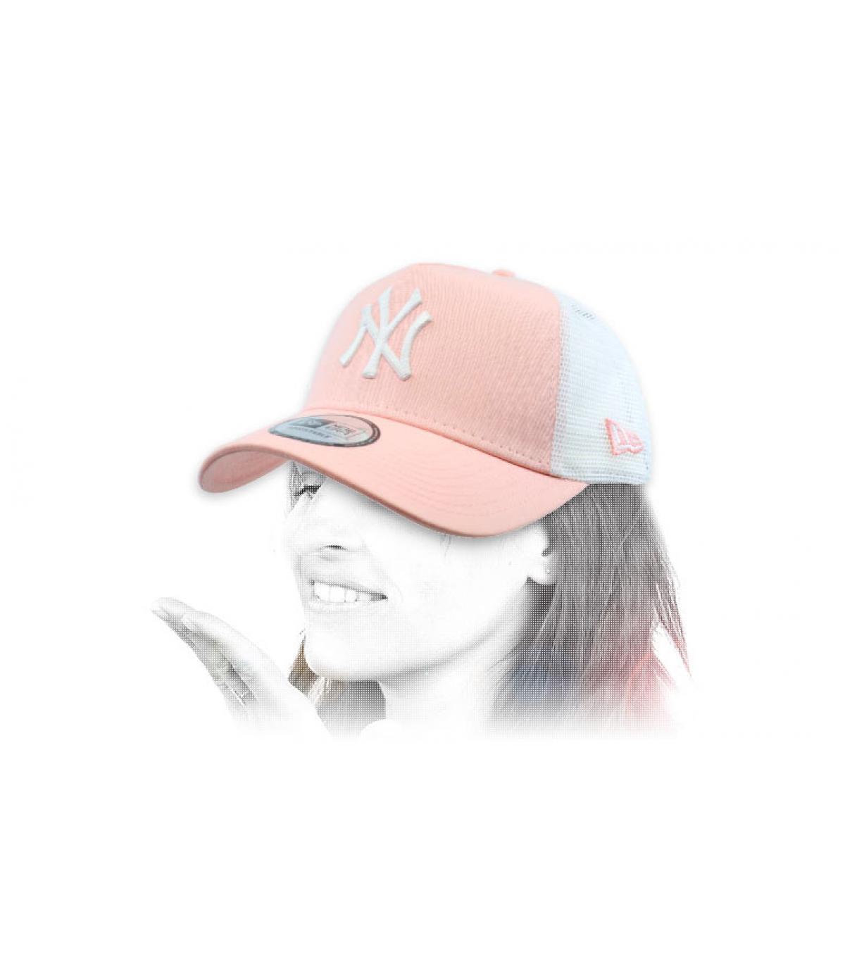 pink NY trucker