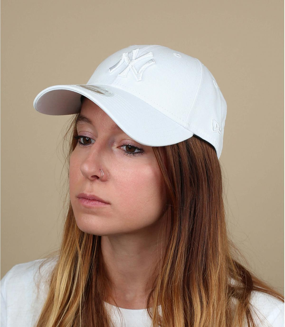 white NY women cap