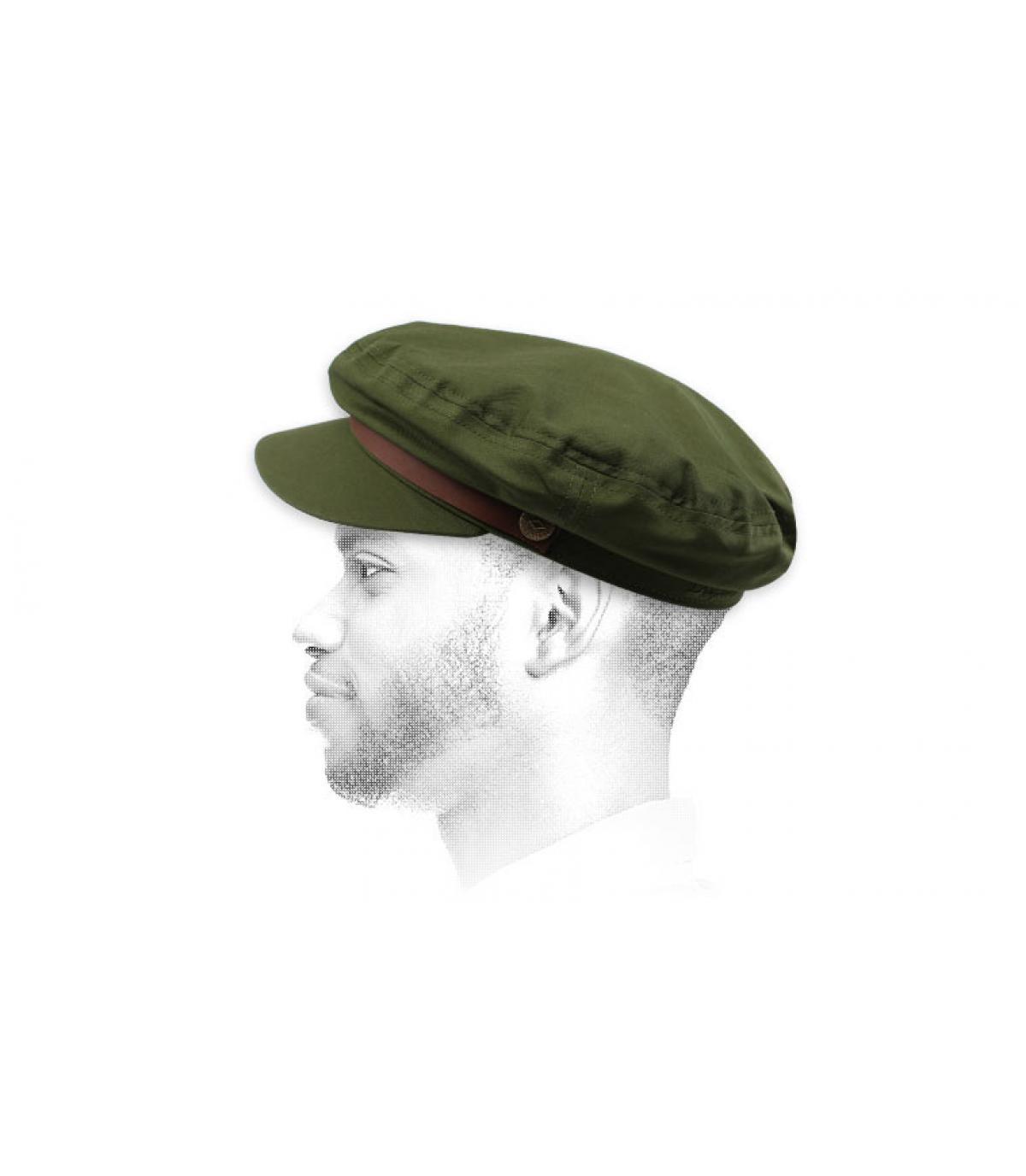 Brixton olive-green fisherman cap