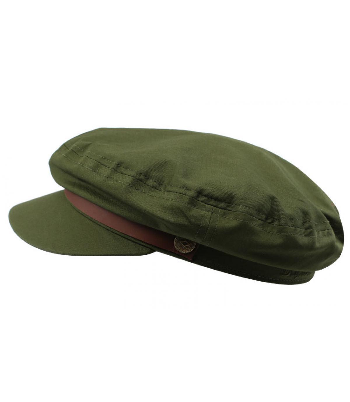 women olive-green fisherman cap