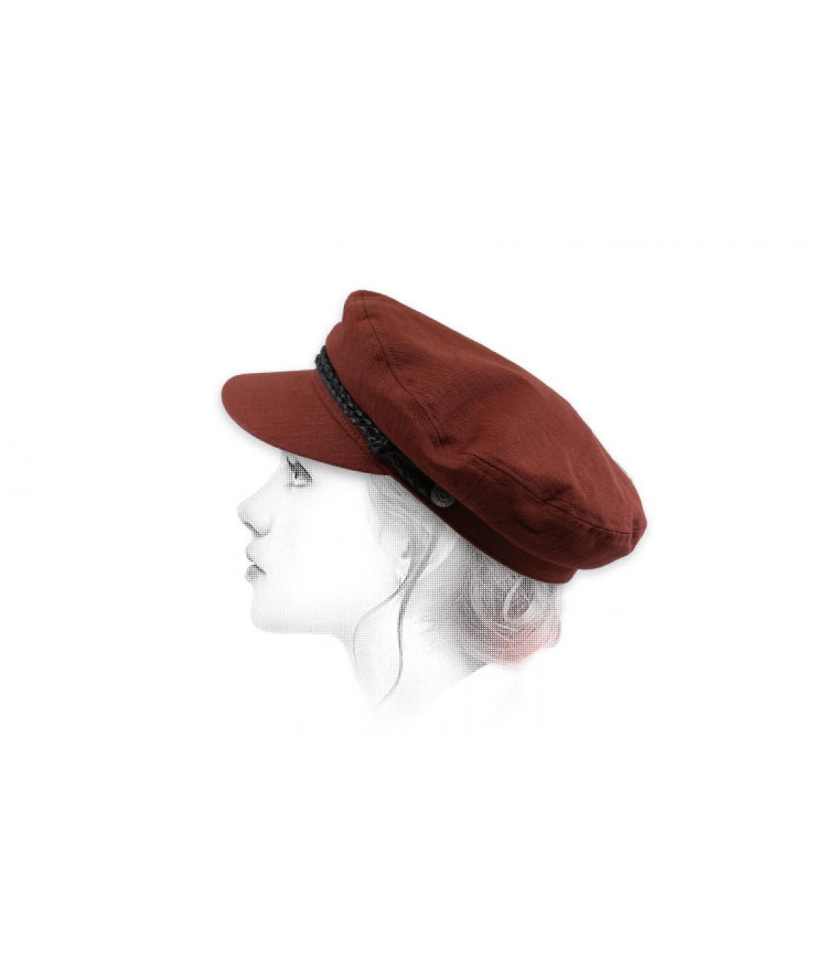 women burgundy fisherman cap