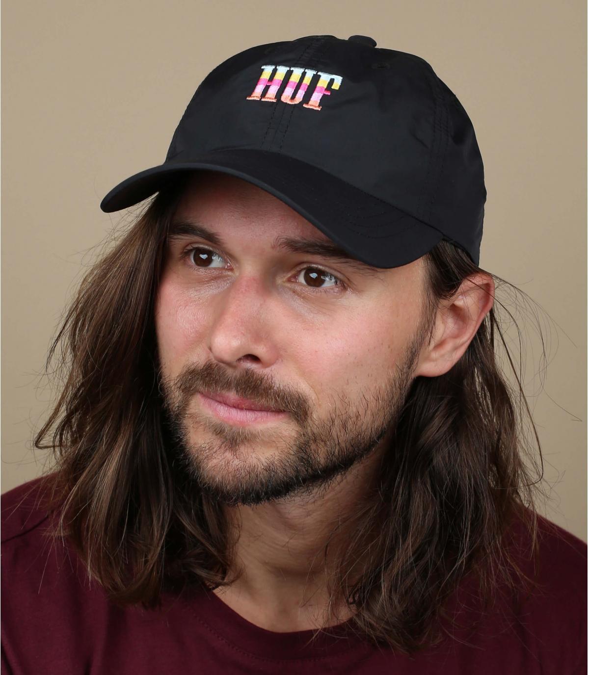 black pink Huf cap