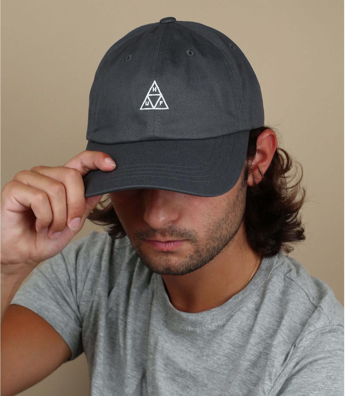grey Huf cap