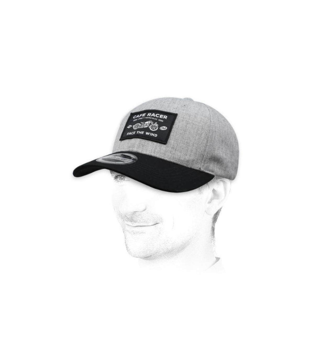grey Café Racer cap