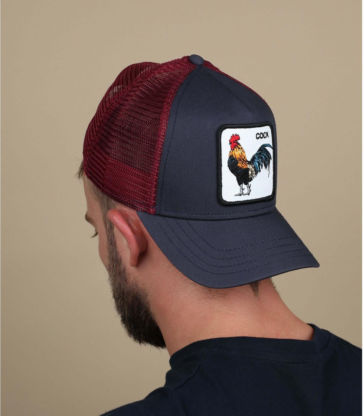 blue trucker rooster Goorin