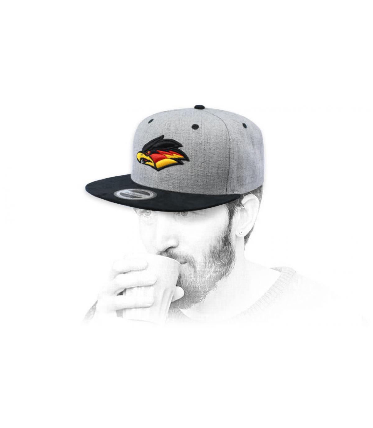 eagle snapback grey