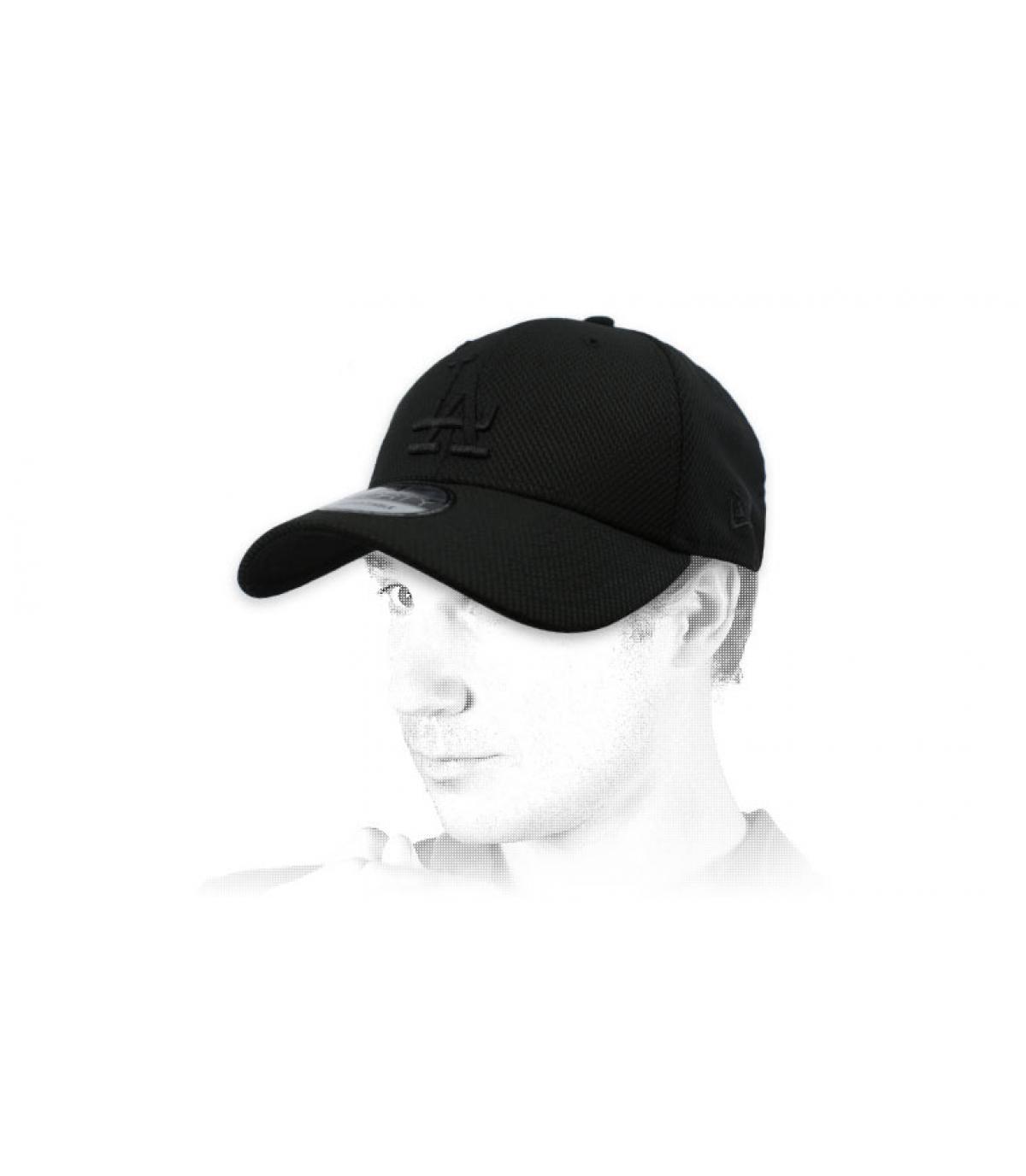black LA diamond cap
