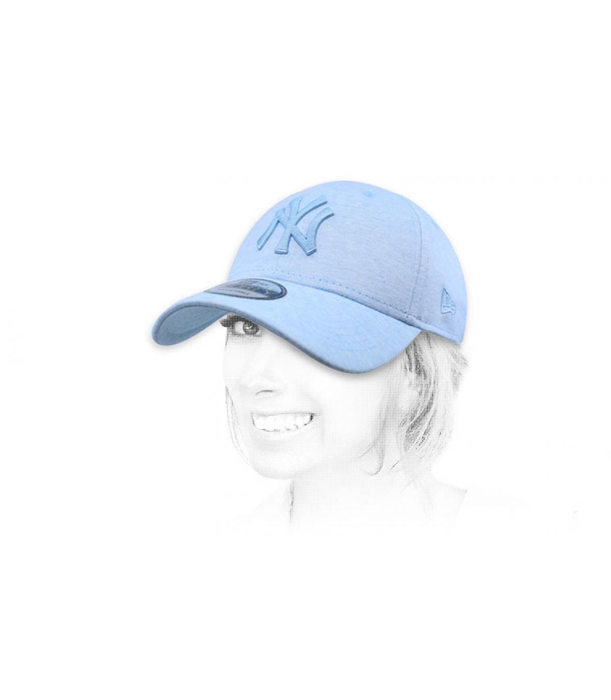 sky blue NY cap