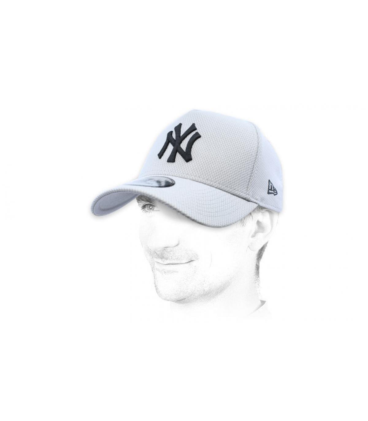 grey NY cap diamond