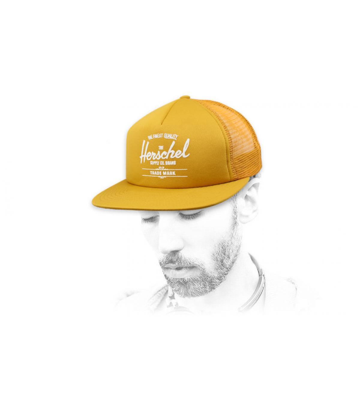 yellow Herschel trucker cap