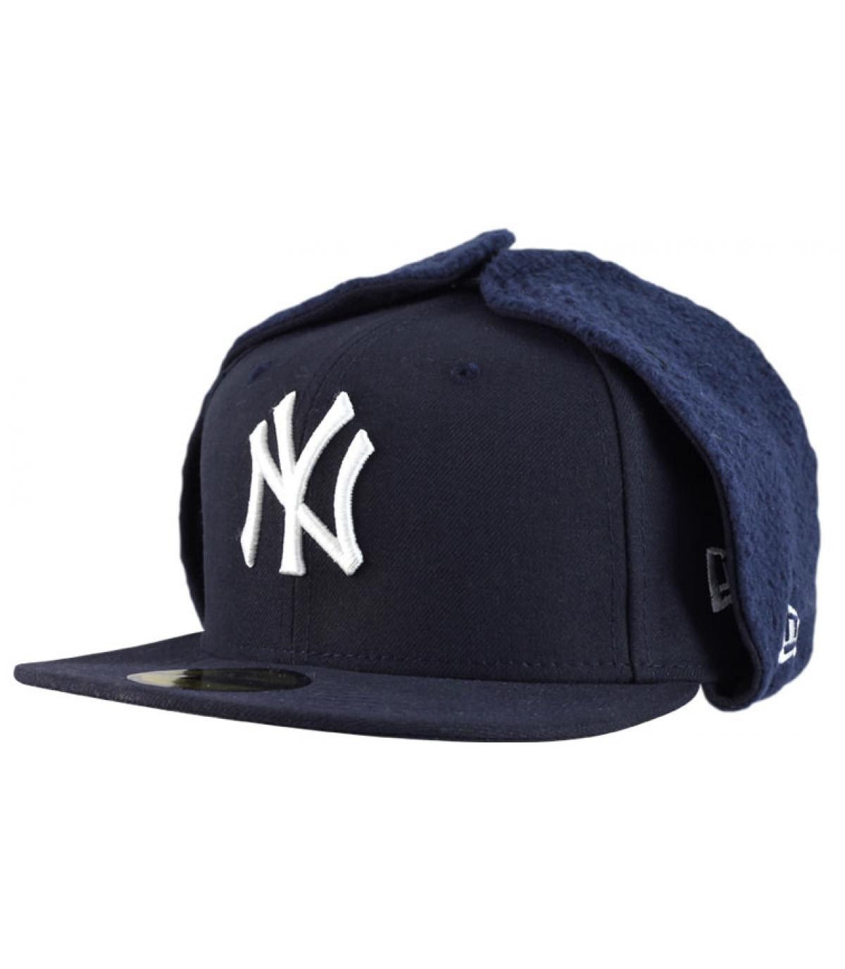 Blue dogear cap