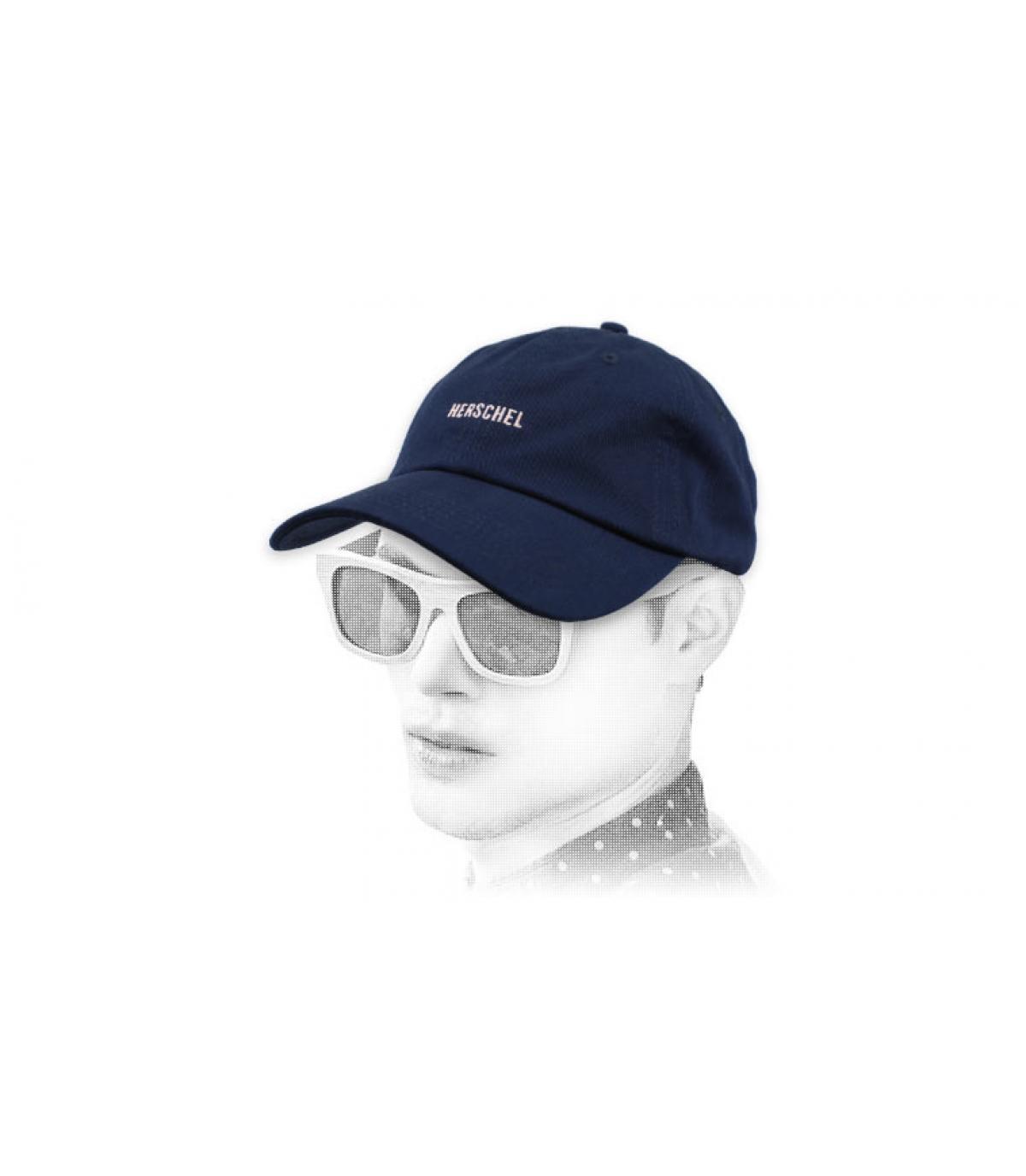 navy Herschel cap