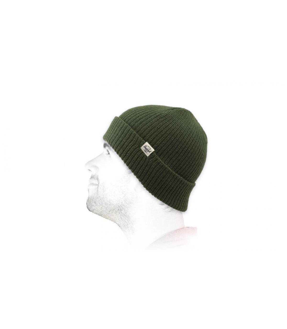 green cuffed beanie Herschel
