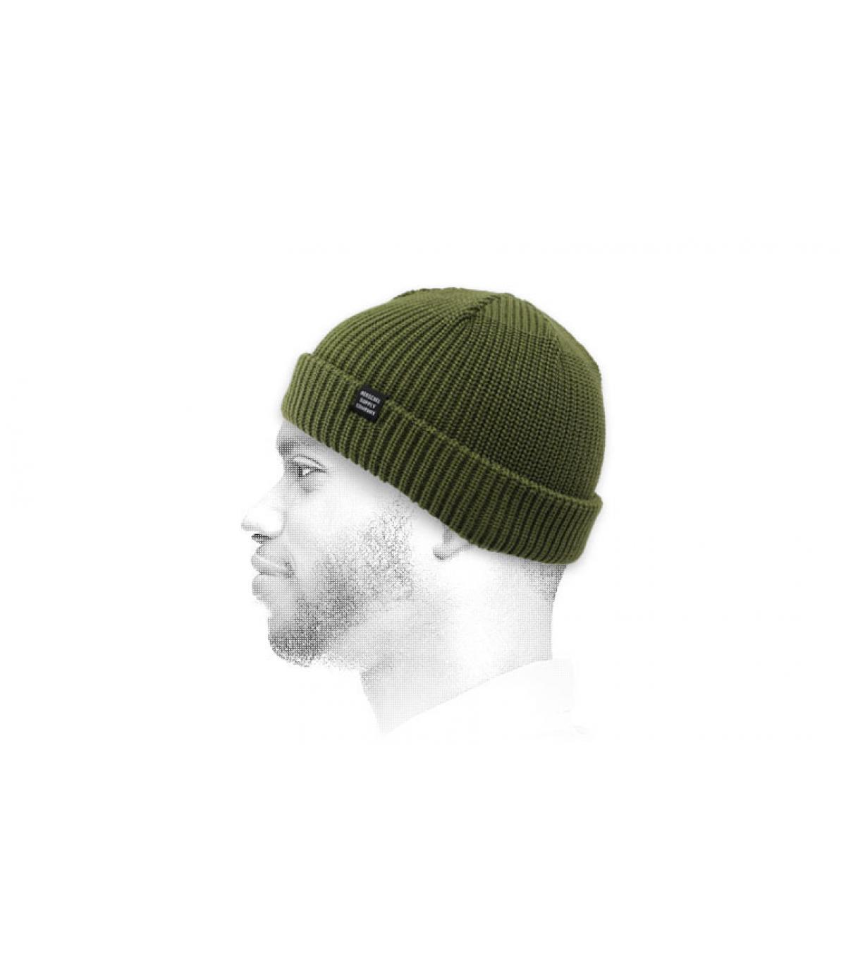 green docker beanie Herschel