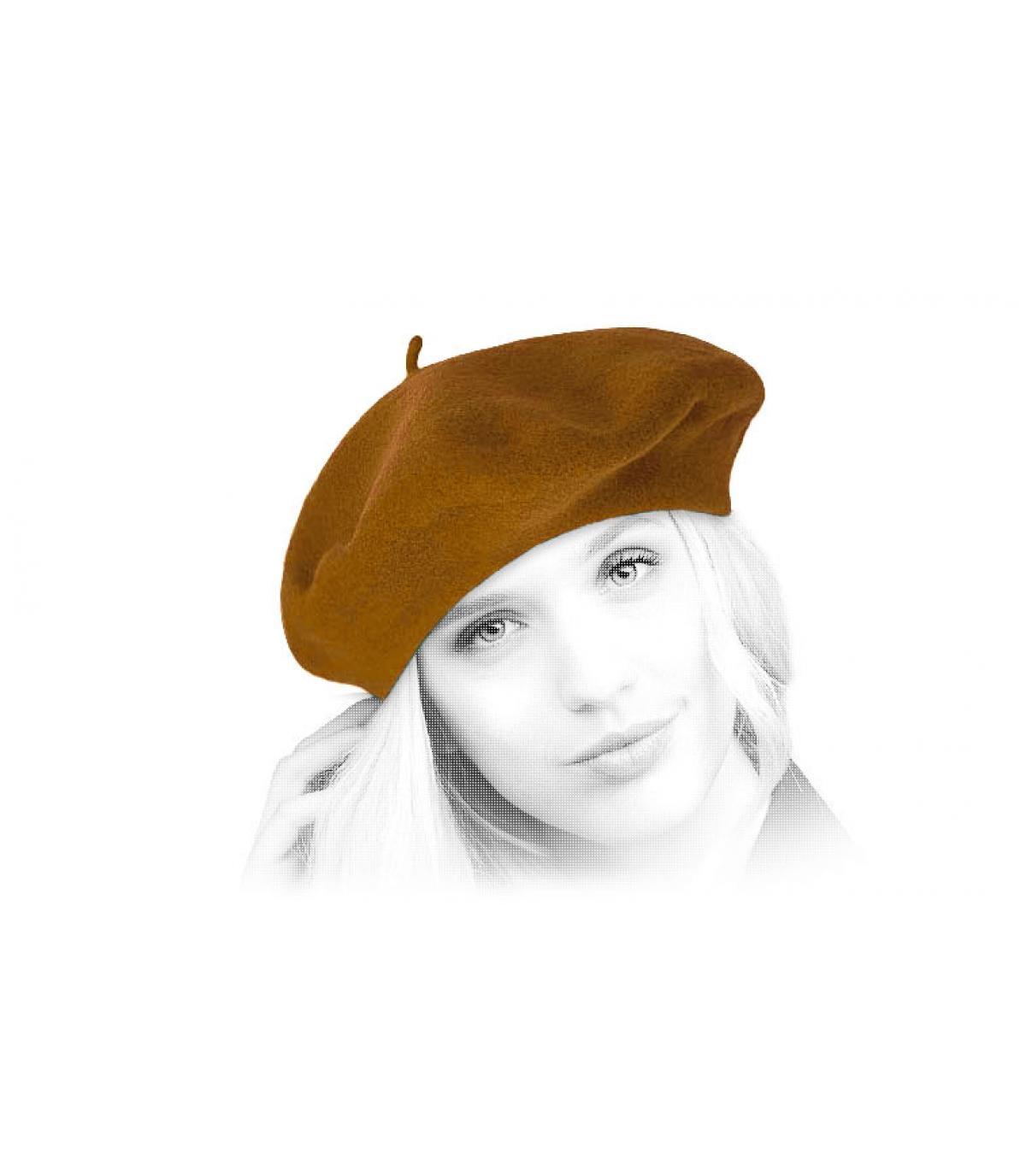 mustard wool flat cap