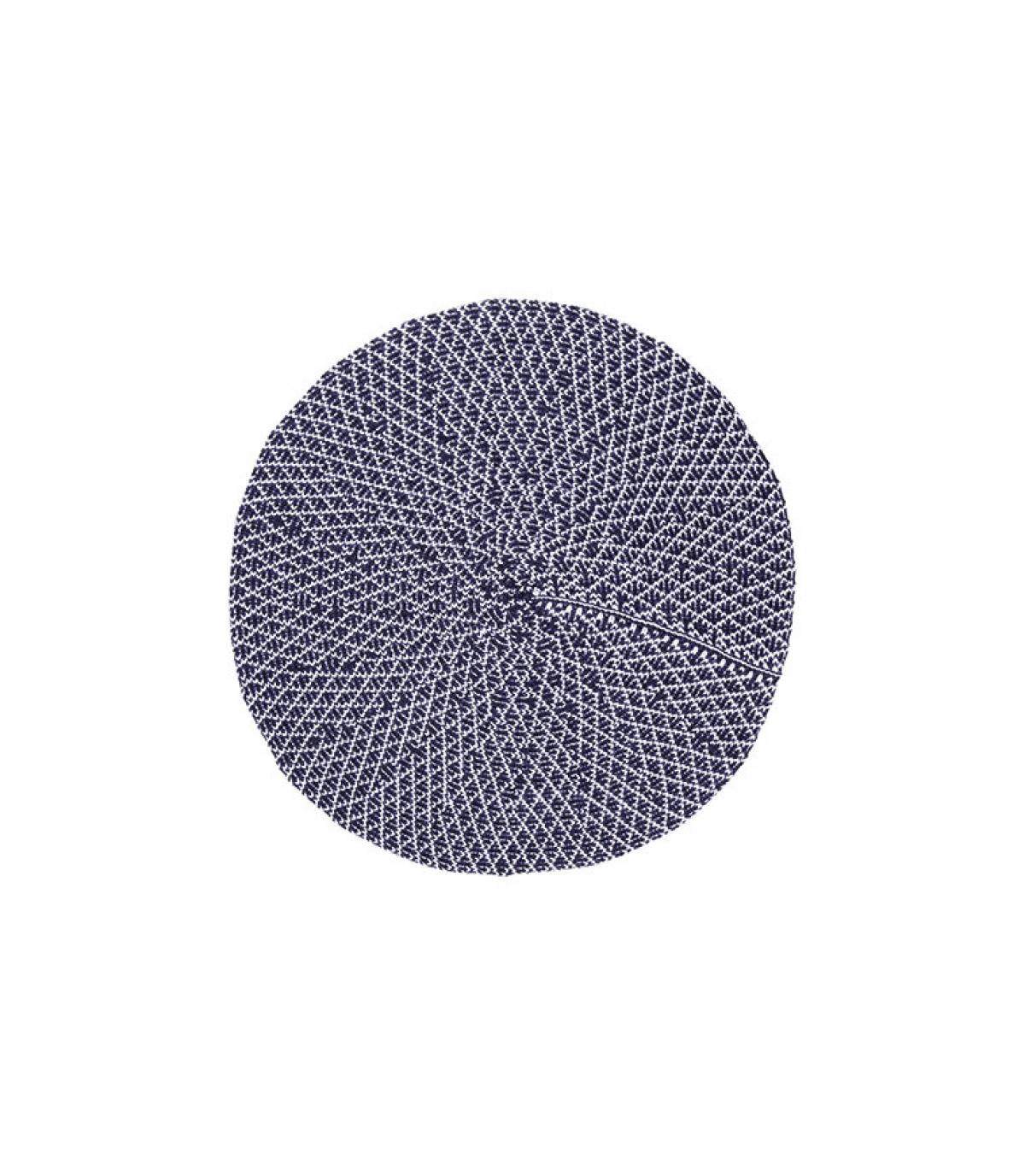 blue white cotton beret Laulhère