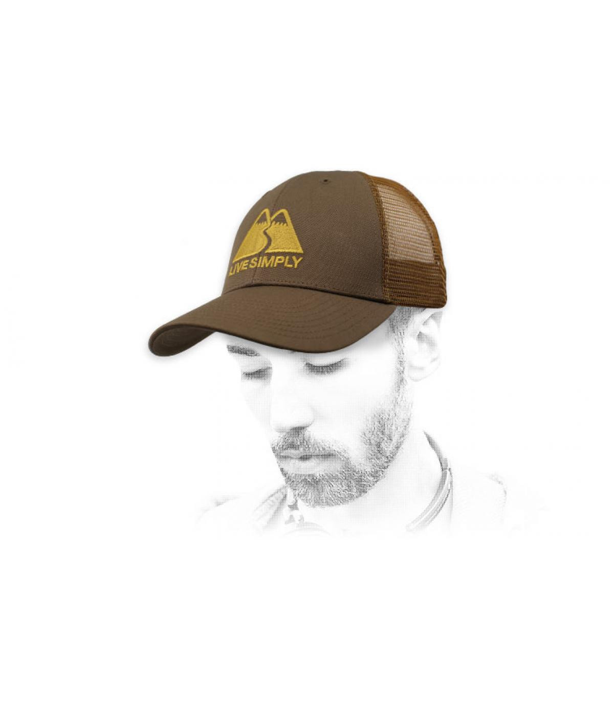Live Simply trucker brown