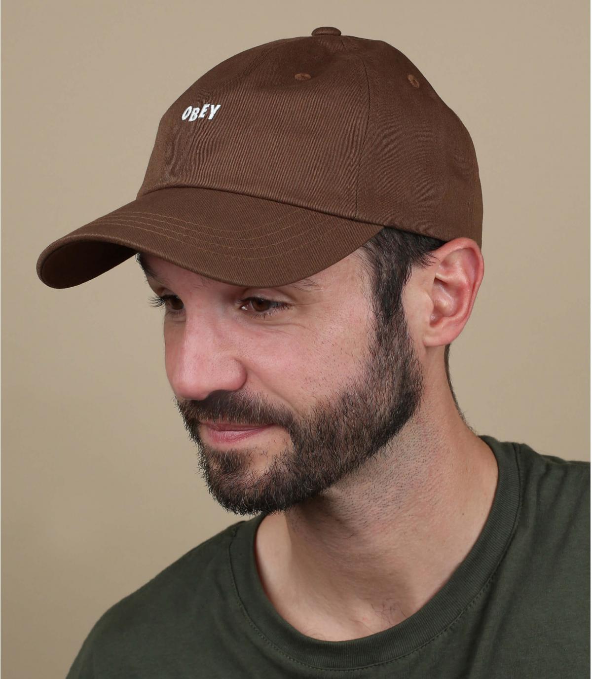 brown Obey cap