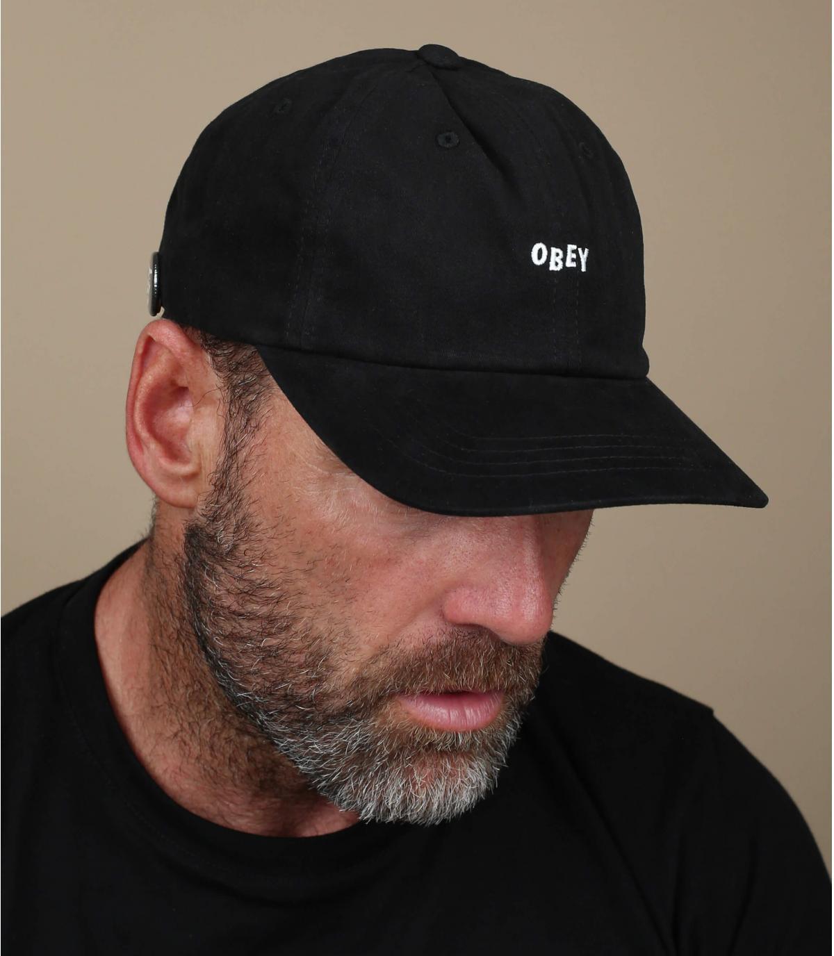 black Obey cap