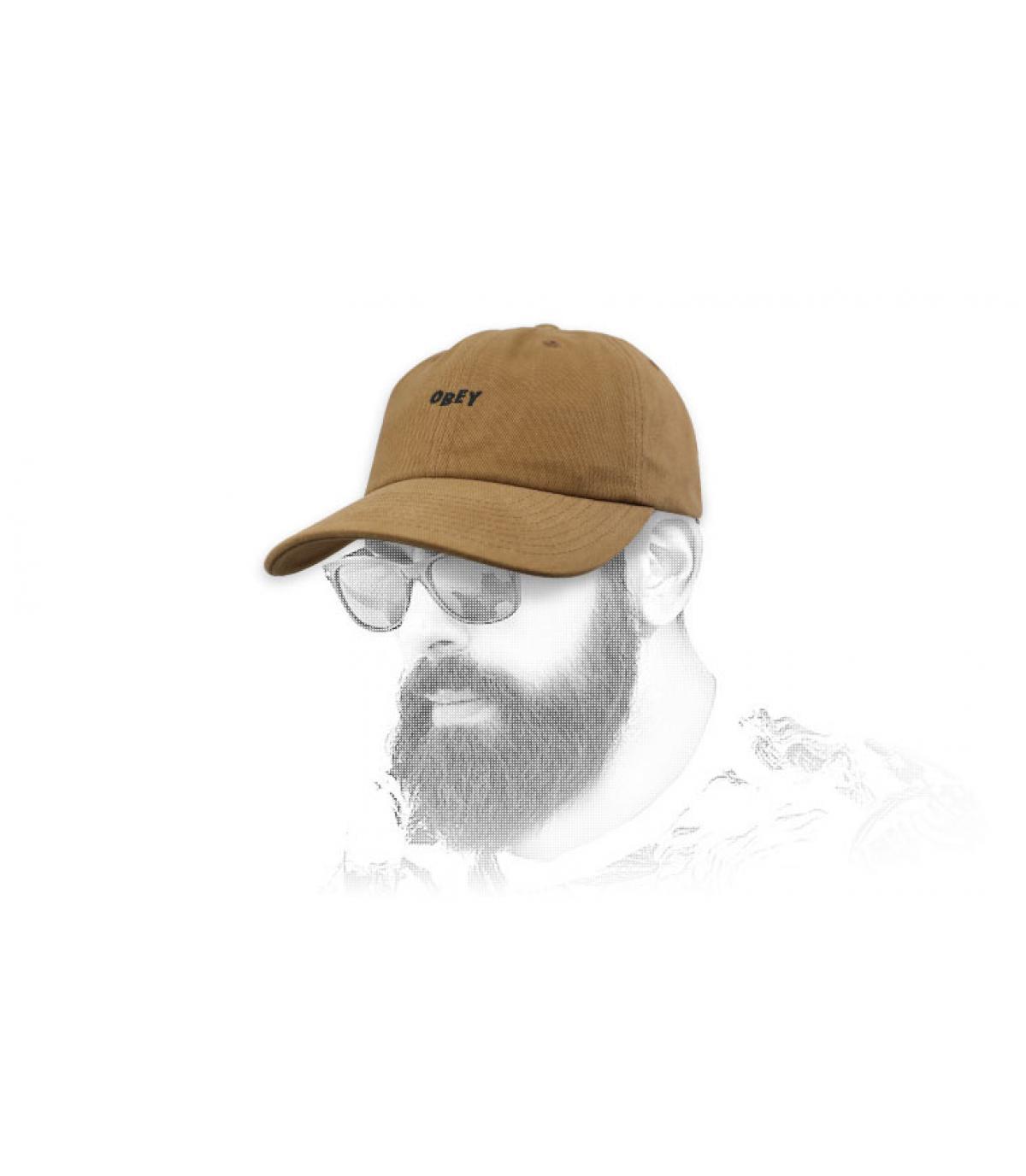 Obey brown curve cap