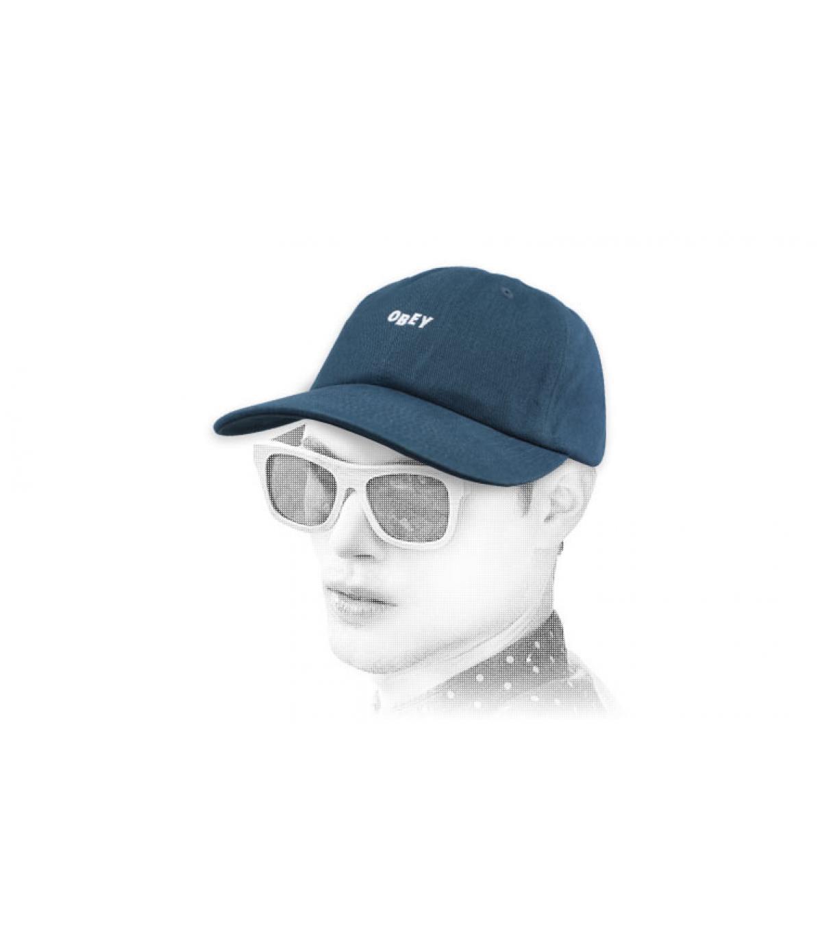 blue Obey cap