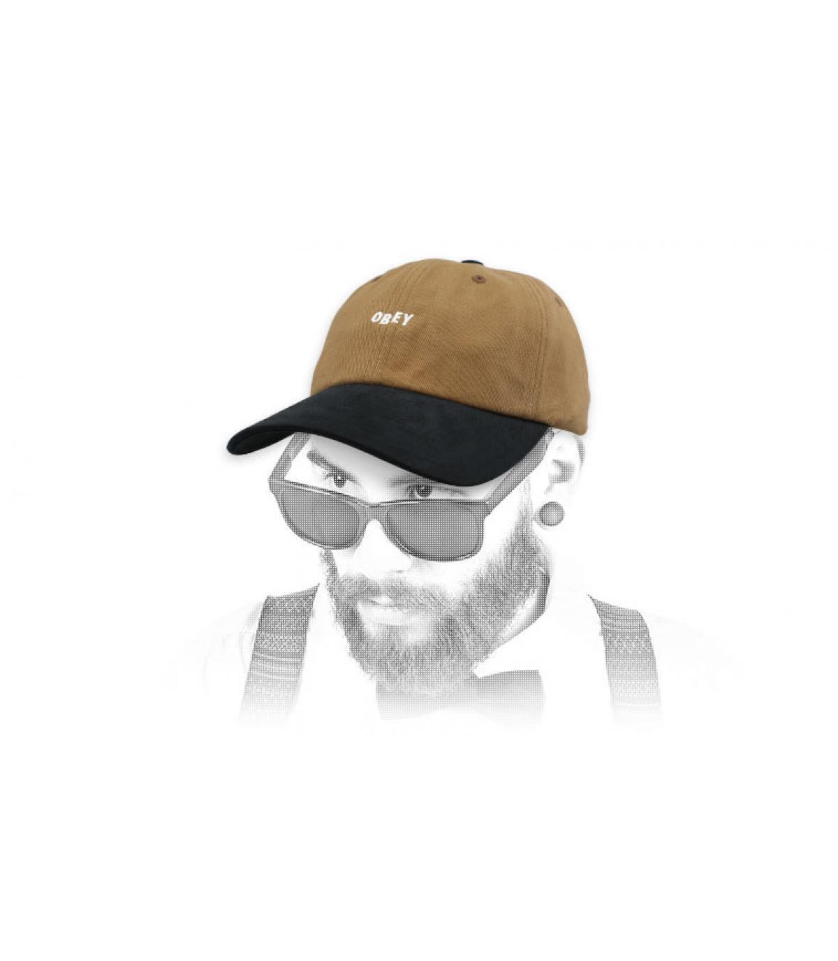 Obey brown black cap