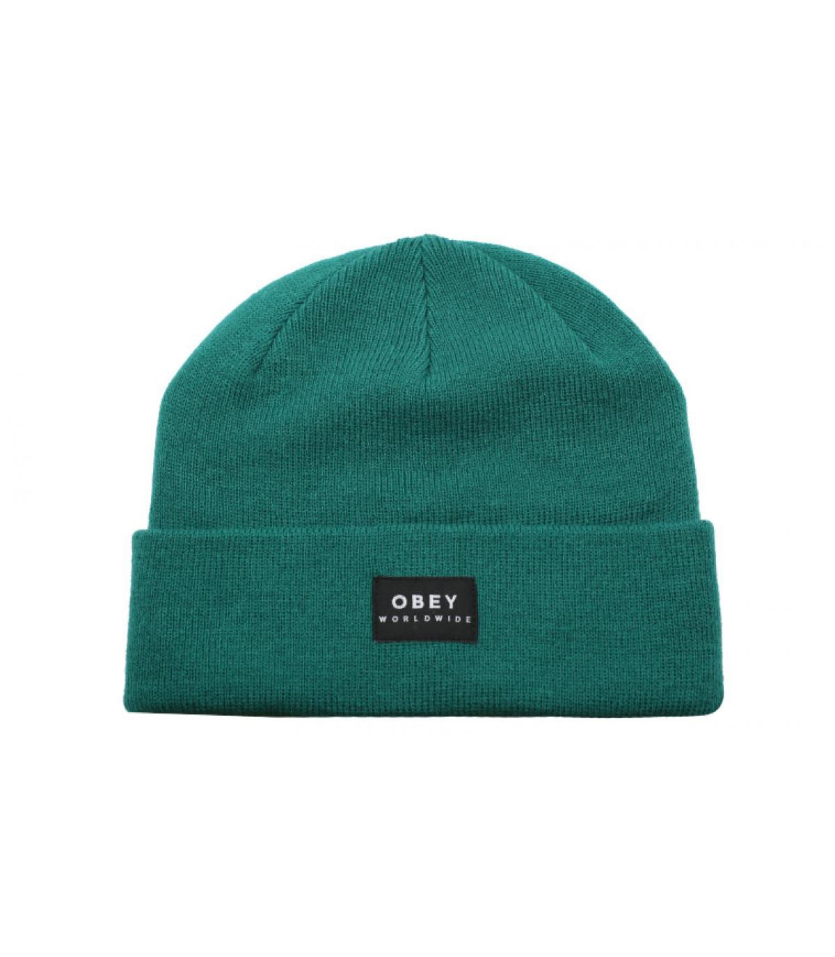 Obey turquoise cuffed beanie
