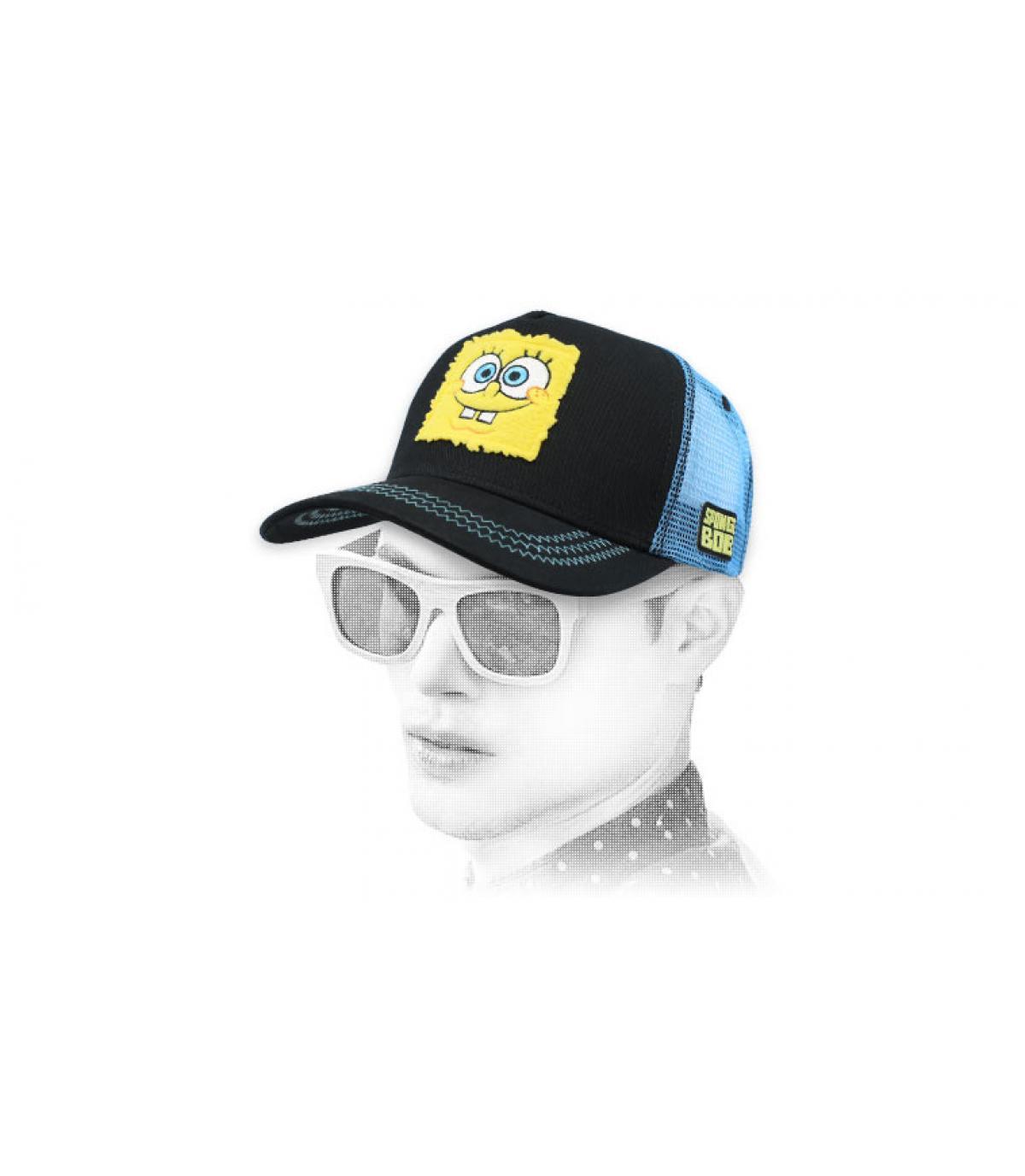 Black Sponge Bob trucker