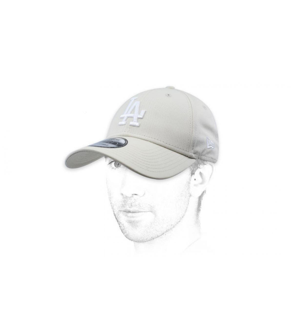 white LA cap