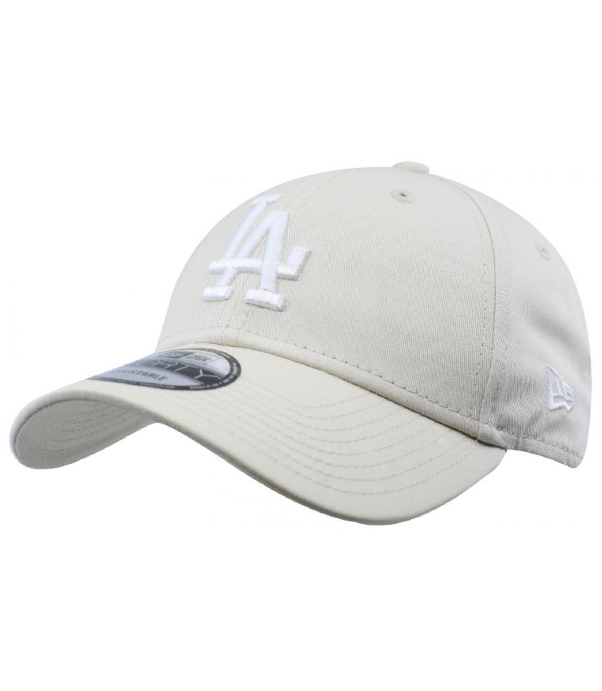 white LA cap - League Ess 9forty LA off white by New Era. Headict efb1188ec2c