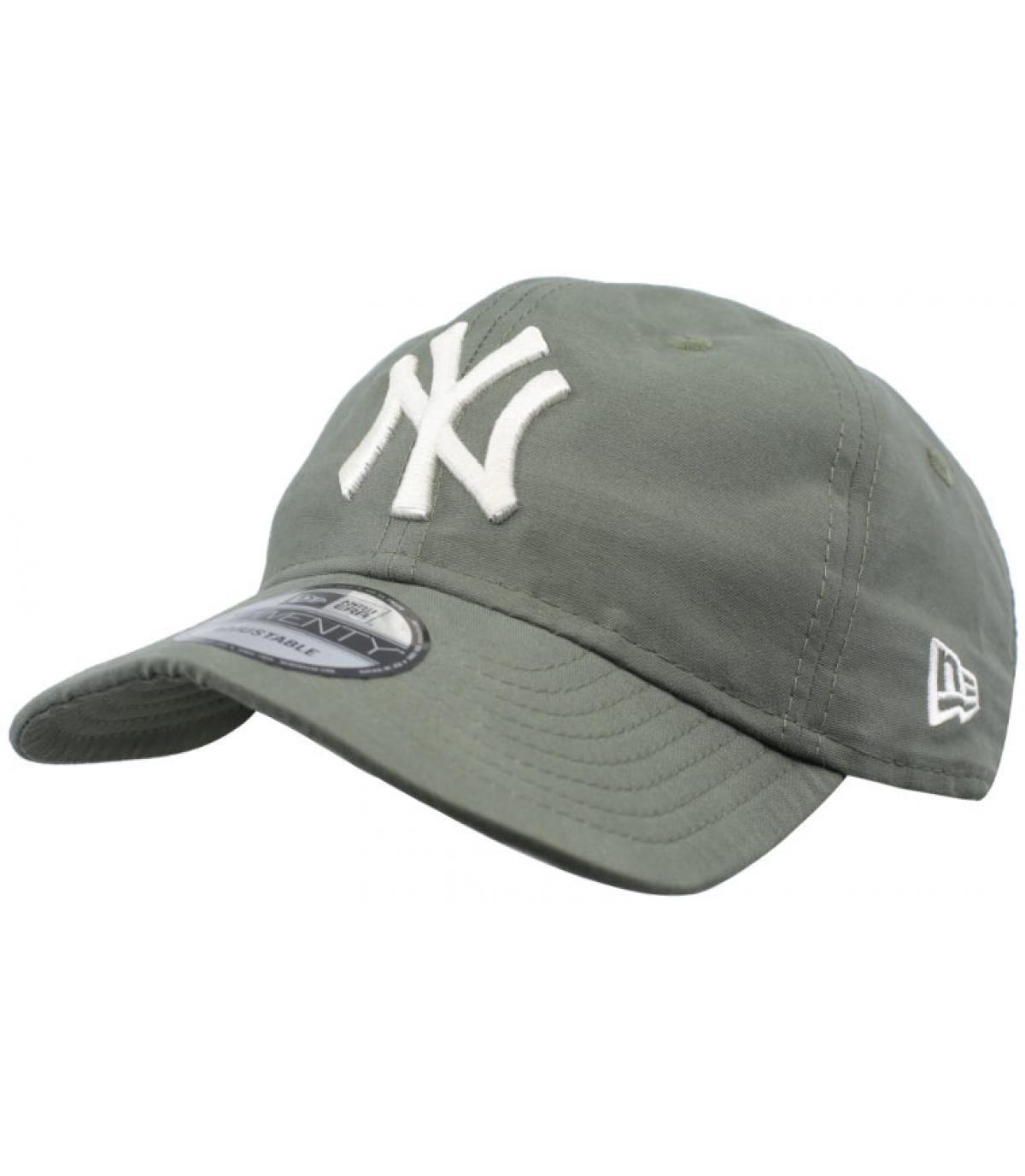 green packable NY cap - Light Wight Nylon Packable 9Twenty NY olive ... 394843bfc7c