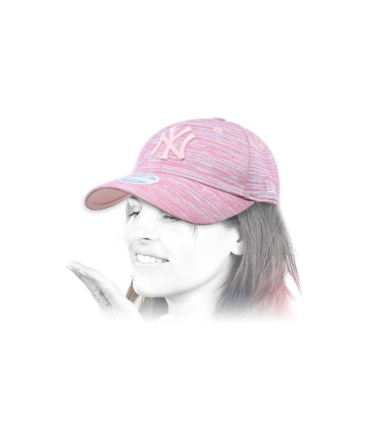 women pink NY cap Engineered