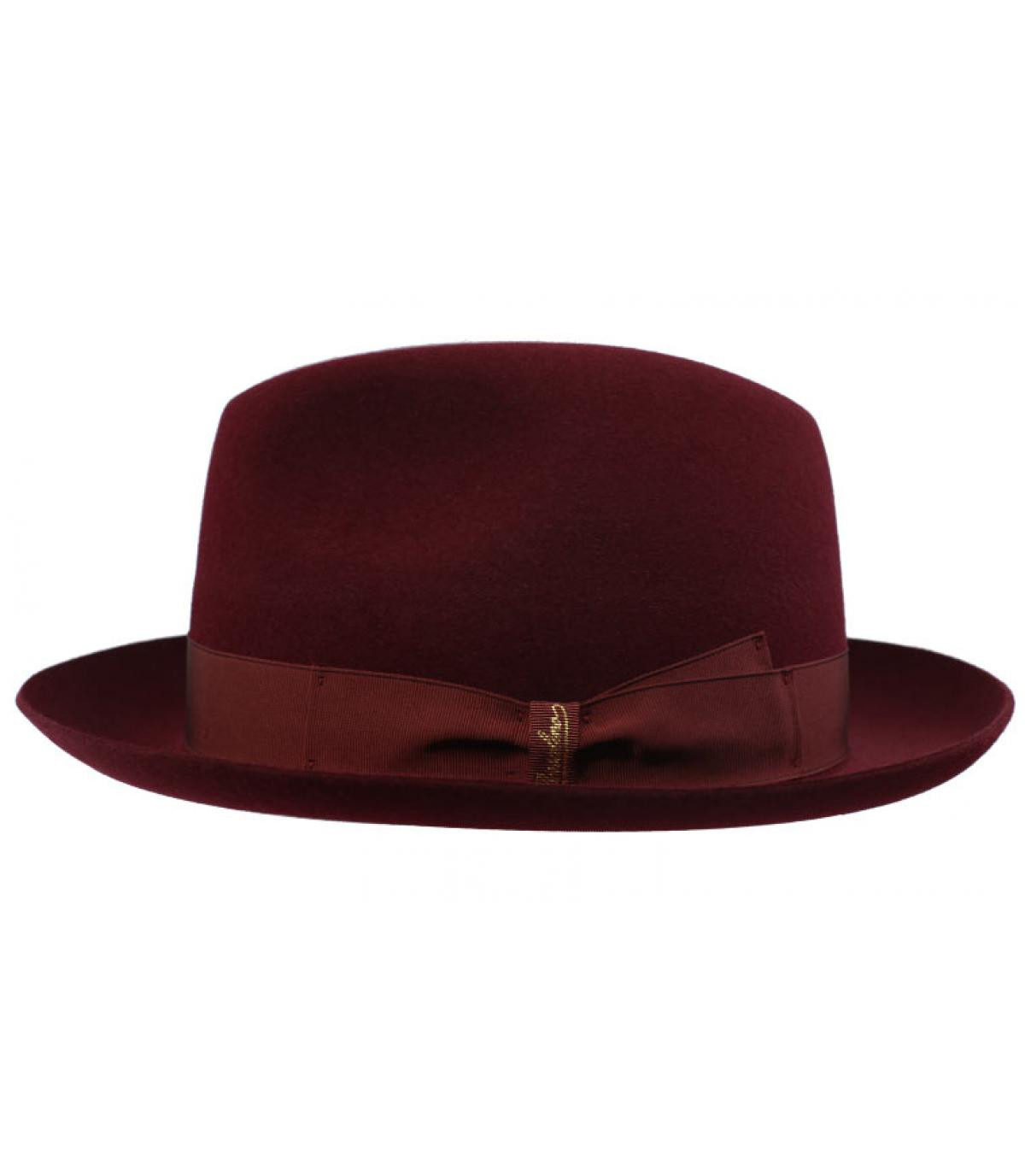 fedora rabbit burgundy Borsalino - Marengo burgundy Fur Felt Hat by ... 5fb027aae5e
