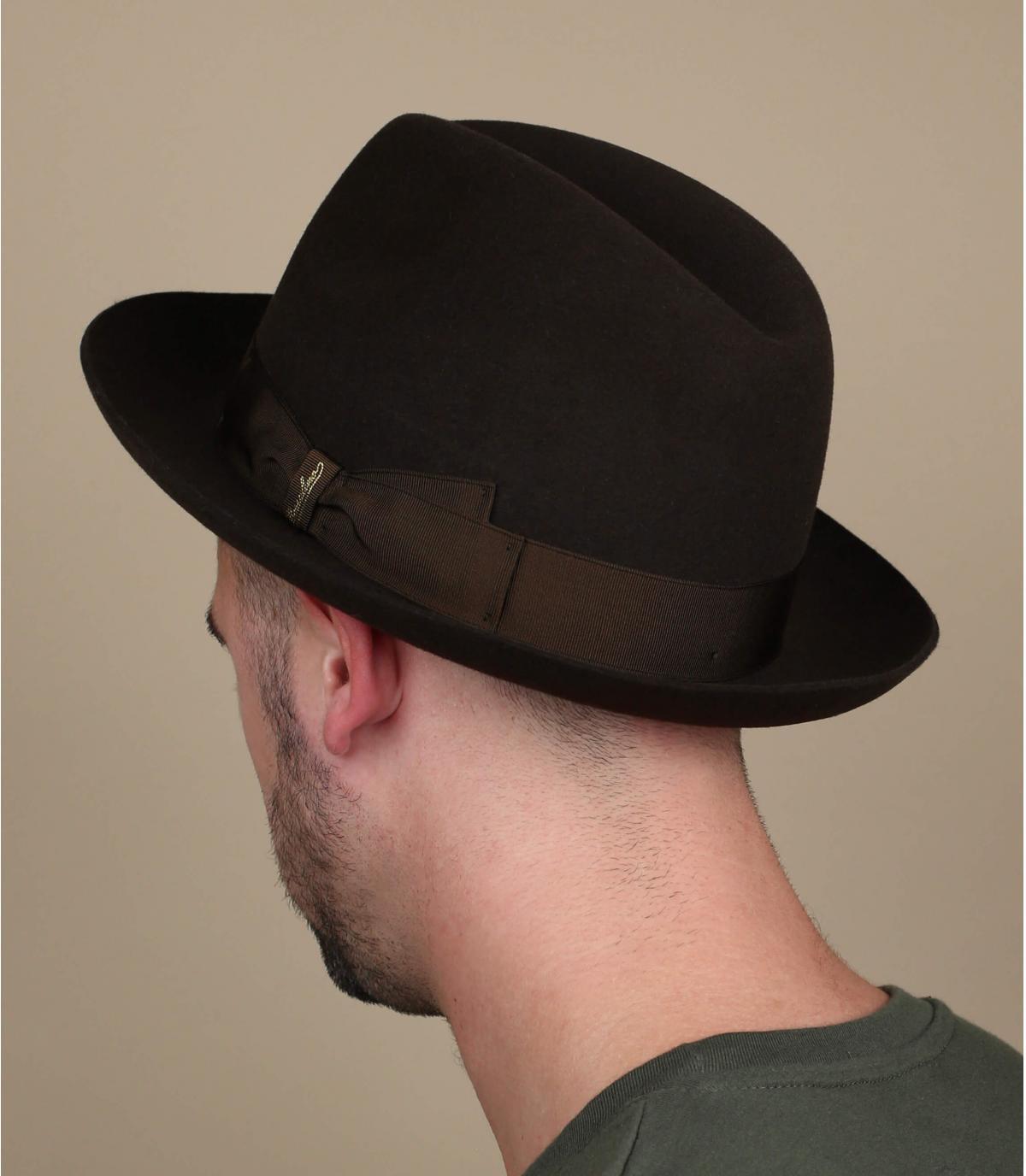 Beige wide brim hat