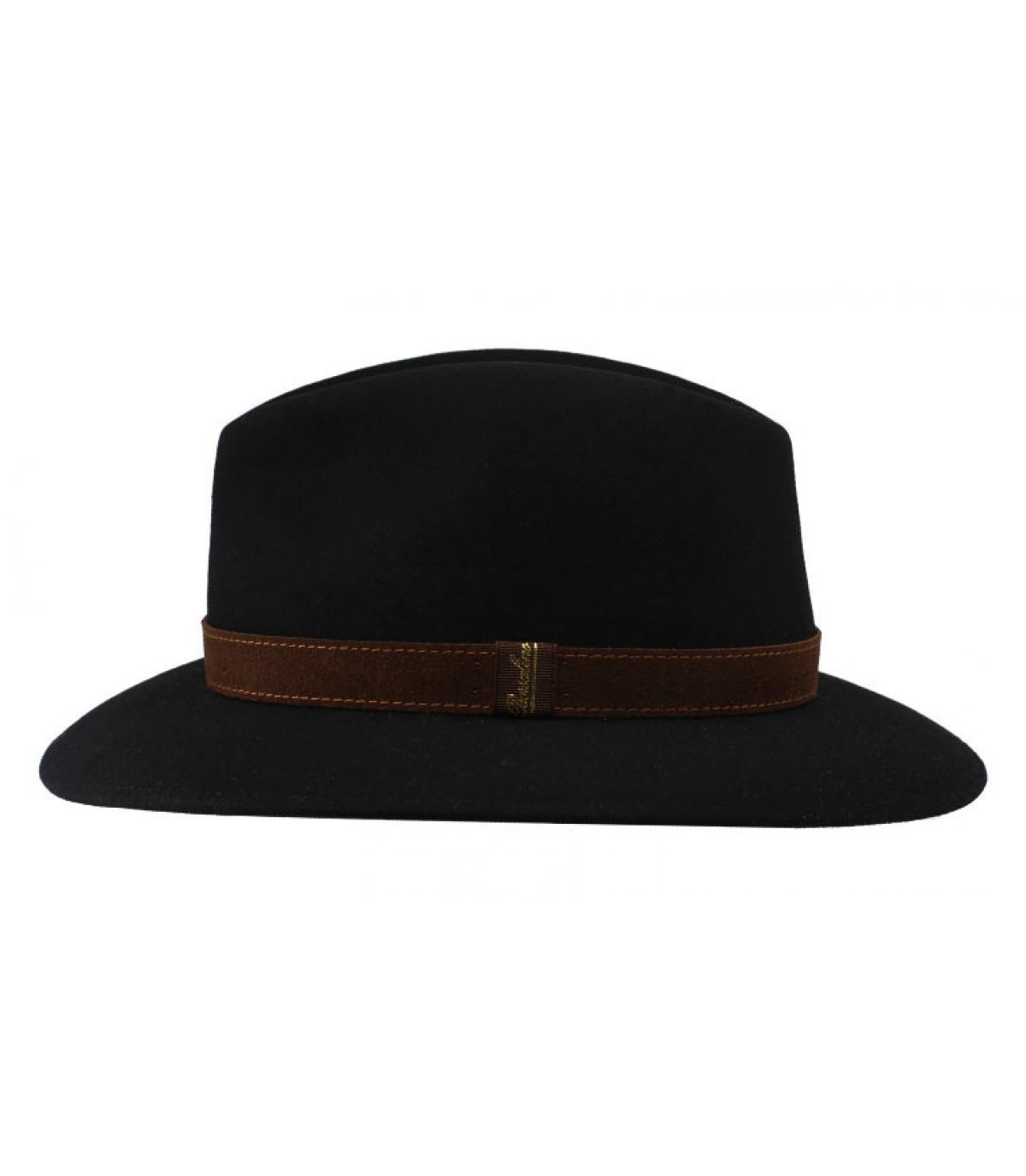 Détails Alessandria black Fur Flet Hat - image 2